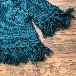 🌹Free People Fringe Sweater Midriff Size XS/TP